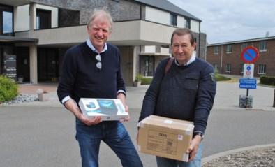 Op 18 april aangevraagde zes gratis tablets voor WZC Betze Rust vandaag geleverd