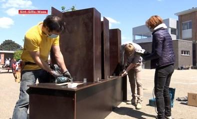 Oudercomité maakt extra wasbakken bij De Klimop in Sint-Gillis-Waas