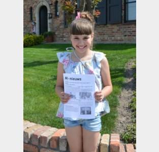 De 10-jarige Martha Michels schrijft haar eigen coronabevindingen neer in een krantje