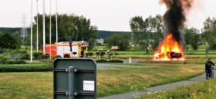 BMW vliegt al rijdend in brand: inzittenden kunnen op tijd ontsnappen