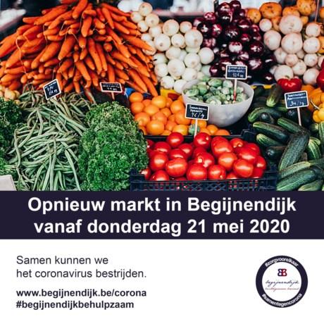 Weer openbare markt in Begijnendijk