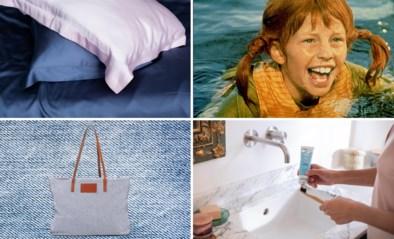 TIPS. Pippi Langkousjes en een tas van jeansafval