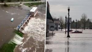 Dammen barsten door noodweer: duizenden mensen moeten woning achterlaten