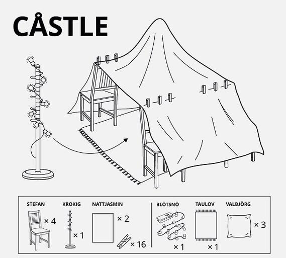 Een fort bouwen in huis? Ikea toont zes keer hoe het moet