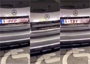 Ongezien: politie neemt auto met 'draaiende nummerplaten' in beslag