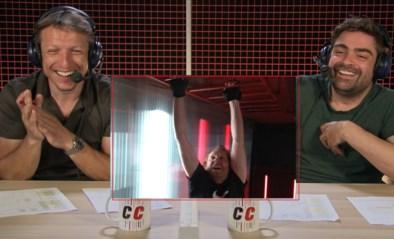 """De wilde klimtechniek van Rik Verheye zorgt voor hilariteit in De container cup: """"De Container is gekanteld, denk ik"""""""