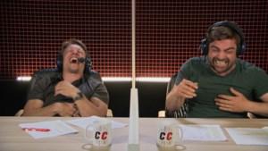 Rik Verheye zorgt voor slappe lach in De container cup, gênant moment voor Saartje Vandendriessche