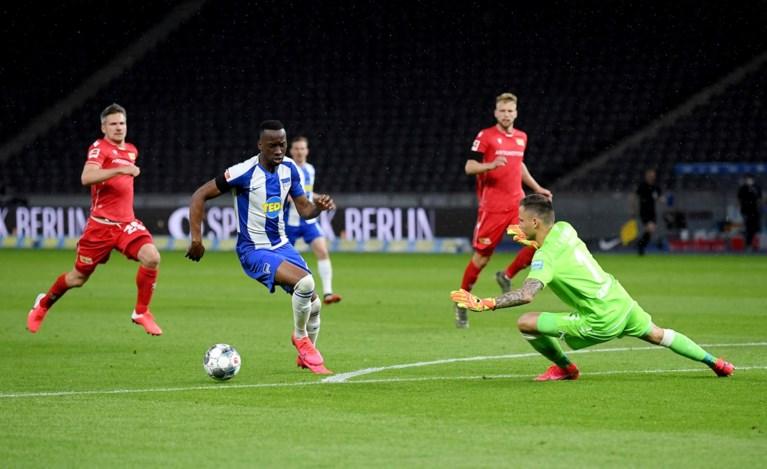 Na de 'kus', nu een doelpunt voor Boyata. Ook Lukebakio scoort in Berlijnse derby