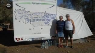 Antwerps koppel al 2 maanden vast in camper in woestijn door lockdown