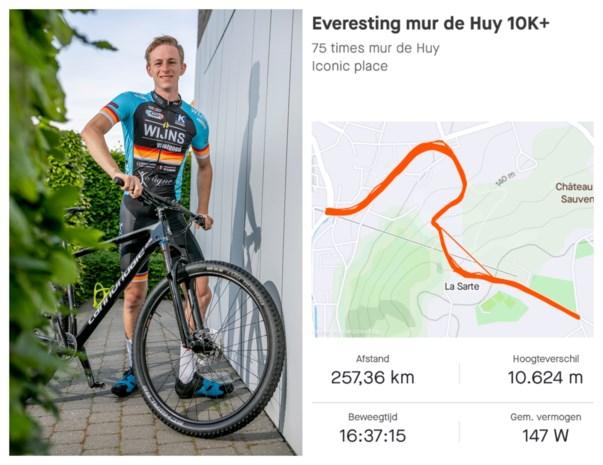Thijs (23) fietst 75 keer de Muur van Hoei op. Zijn geheim? Boterhammen met choco