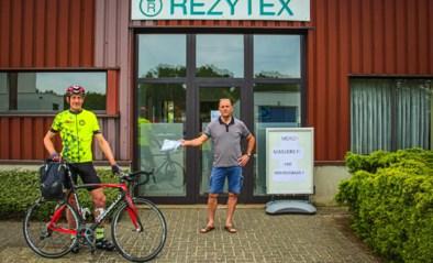Dominique fietst meer dan 1.000 kilometer om mondmaskers te verdelen