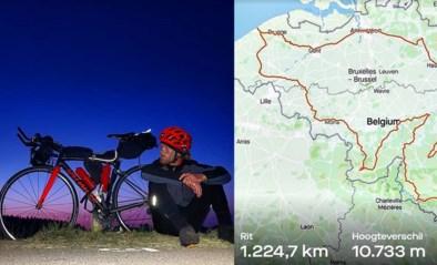 """Deelnemer Kamp Waes geeft alle profrenners het nakijken met 'Tour de Belgique' van 1.225 km: """"Ik kon nauwelijks wakker blijven"""""""