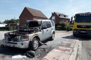 Range Rover brandt uit