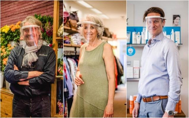 """Berchemse handelaars gaan voor gezichtsmaskers in plaats van mondmaskers: """"Dit vergemakkelijkt de communicatie"""""""