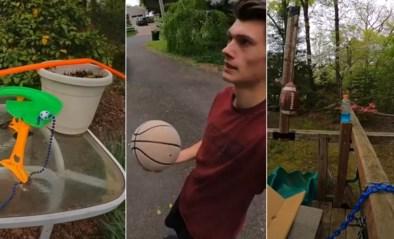 Één basketbal en zeventig obstakels: Youtuber lanceert straffe video van drie minuten die je moet gezien hebben