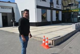 Pas aangelegd terras van 't Tonneken kapot gereden