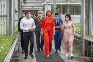 Koningin Mathilde op bezoek bij vrouwelijke ondernemer van het jaar