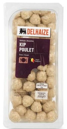 Delhaize roept kippensoepballetjes uit terug wegens listeria