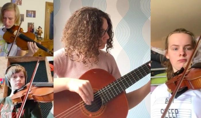 VIDEO. Creatief in tijden van corona: academiestudenten musiceren samen vanuit hun kot