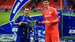 """Thibaut Courtois en Eden Hazard hadden een codewoord voor Real Madrid in de Chelsea-kleedkamer: """"Leuk om erover te speculeren"""""""