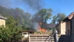 Tuinhuis brandt af