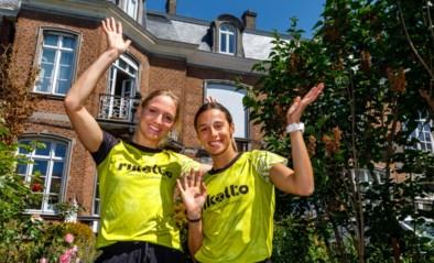 Geen 20 kilometer van Brussel en dus lopen Belgian Cheetahs Hanne Claes en Camille Laus rond hun kot voor het goede doel