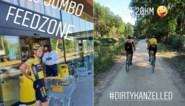 """Na 320 kilometer stof vreten voor Wout van Aert op z'n eigen uitgestippeld parcours vol zandbakken: """"Nu twee dagen rustig aan"""""""
