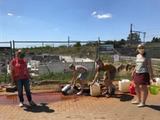 Groen Aarschot protesteert tegen waterverspilling bij bouwwerven