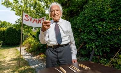 """Alfons Leempoels (103) stapt marathon tegen corona: """"Voor ik het wist, was ik met dit avontuur gestart"""""""