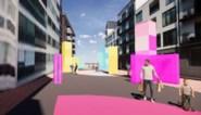 Flashy kubussen, straatkunst en kleurrijke vlaggen: ook deelgemeente heeft eigen relanceplan