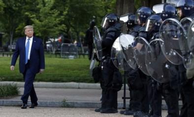 """Trump geeft korte toespraak: """"Leger inzetten om rellen door Antifa te stoppen"""""""
