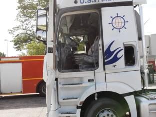 Brandje in vrachtwagen