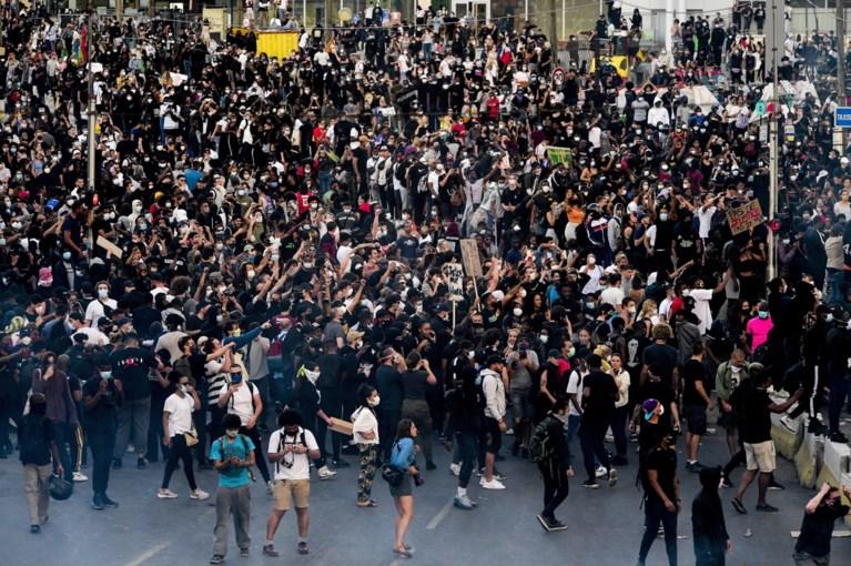 Verboden protest van 20.000 betogers in Parijs mondt uit in rellen