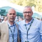 Voorzitter van de vzw Primus Classic Peter Van Petegem (links) met medeorganisator Philip Beke.