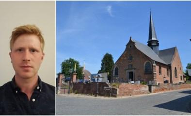 Historische kerkmuur in Gaasbeek, bekend uit de intro van Iedereen Beroemd, wordt gerenoveerd