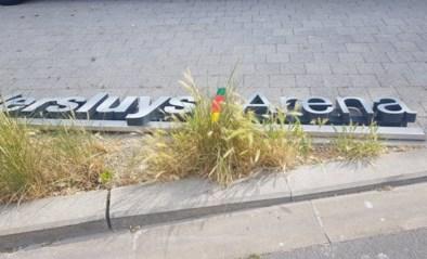 Ruzie Bouwgroep Versluys en KV Oostende gaat verder: stadionnaam verwijderd van tribune