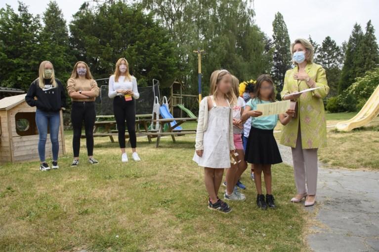 Koningin Mathilde op bezoek bij vereniging voor jeugdhulp