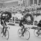 België wint het landenklassement van de Ronde van Duitsland en maakt een ereronde.