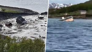 """Aardverschuiving vaagt deel van Noors vissersdorp van de kaart: """"Ik heb moeten rennen voor mijn leven"""""""