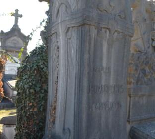 Grafteken ontworpen door Victor Horta op Campo Santo officieel beschermd als monument