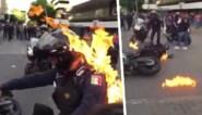 Heftig: relschopper steekt politieagent in brand tijdens protesten in Mexico