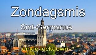 VIDEO. Zondagsmis, einde lockdown, in Sint-Germanuskerk