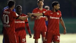 Bayer Leverkusen klopt vierdeklasser dankzij hattrick van assists van Demirbay en is eerste finalist in Duitse beker