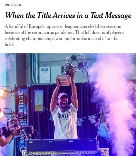 """Club Brugge en Simon Mignolet halen zelfs The New York Times met Belgische landstitel: """"De papieren kampioenen"""""""