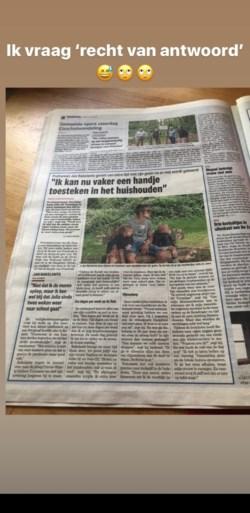 """Vrouw van Jan Bakelants is juriste, en dus komt er """"recht van antwoord"""" op uitspraak over het huishouden"""
