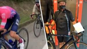 Uran schenkt fietsende landbouwer Ivan een fiets als beloning