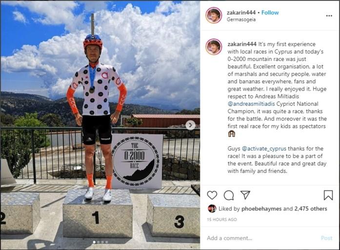 CCC-renner wint onofficiële klimwedstrijd op het eiland Cyprus