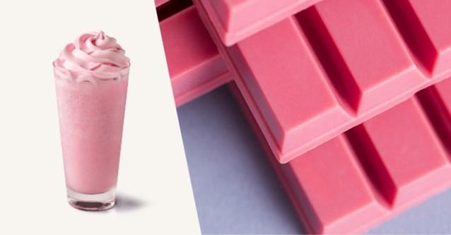 Starbucks verkoopt tijdelijk frappuccino met roze chocolade en frambozen
