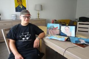 """Sam (22) dolblij met reactie Marc Van Ranst over portret dat hij maakte van viroloog: """"Als ik bij hem in de buurt ben, ga ik hem eens opzoeken"""""""