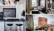 Yannick en Olivier wonen in een oude chocoladefabriek met originele betonnen zuilen en een graffiti wall